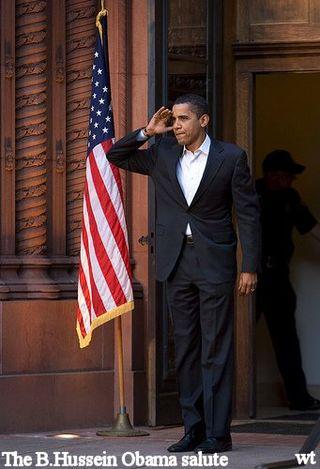 Obama's salute