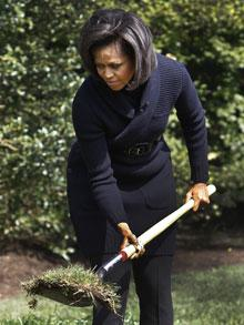 Michelle digs in