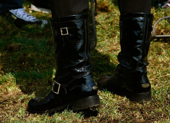 Close up of the boots