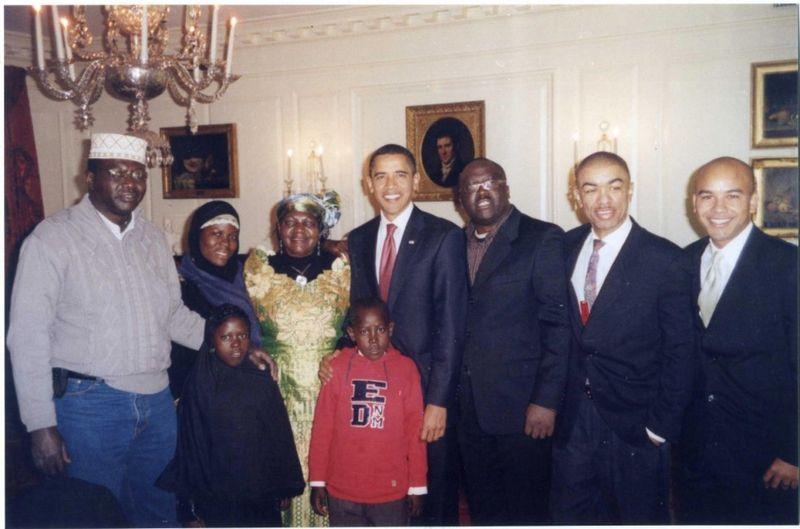 Obamas kinfolk.