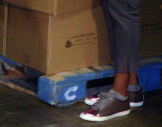 Michelle obama's 500 tennis shoes close