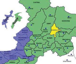 Pakistan map shangla