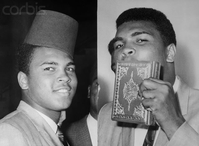 Muhammad Ali kissing the koran