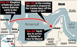 British racing yacht capture