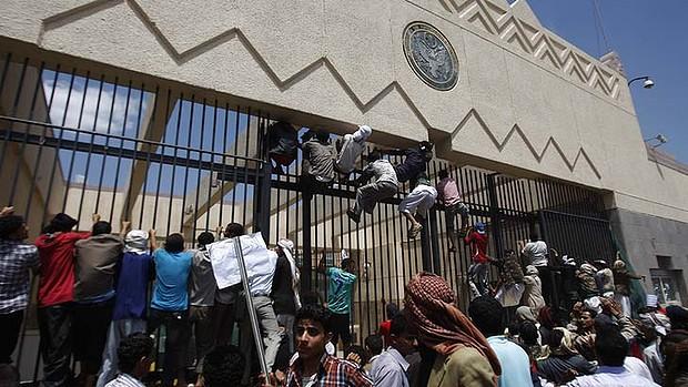 Yemen embassy protesters