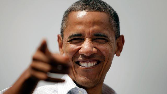 Obama finger point
