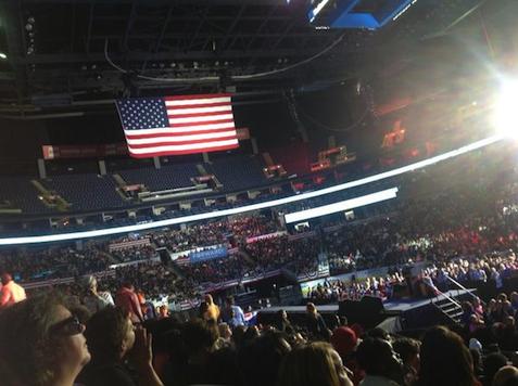 Obama empty ohio arena a