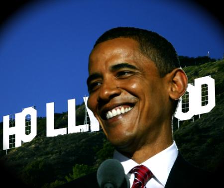 Obama hollywood sign